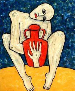 'Mit Vase', 1991